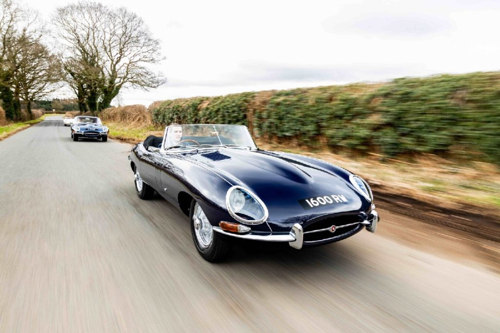 Jaguar  1600 RW on the road with 1VHP. Photo: Tom Clutterbuck.