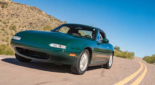 The average condition 2 value of the Miata is $15,400, which is up 7.5% from a year ago.