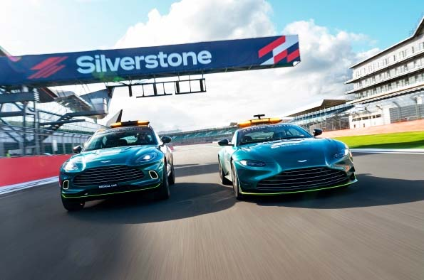 Aston Martin Vantage and Aston Martin DBX Official Safety and Medical Cars of Formula 1.