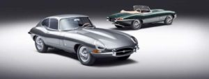 "Jaguar Classic's 60th anniversary 3.8 E-type sports cars inspired by the ""9600 HP"" and ""77 RW"" examples from the 1961 Geneva launch."