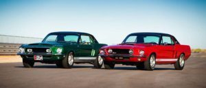 """1968 Shelby EXP 500 """"Green Hornet"""" and 1967 Ford Shelby EXP 500 """"Little Red."""""""