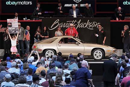 "Porsche 928 driven by Tom Cruise in ""Risky Business."" Photo courtesy Barrett Jackson"